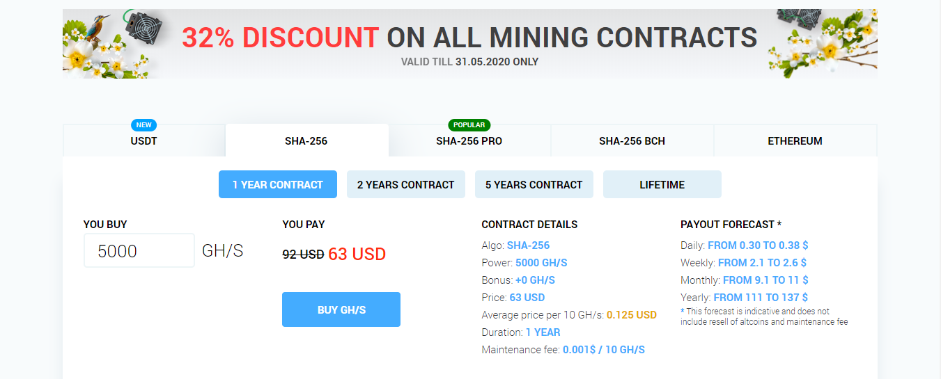 cryptocurrency cloud mining calculator