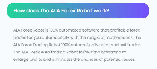 Ala Forex Robot Strategy