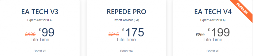 EA Tech Pricing