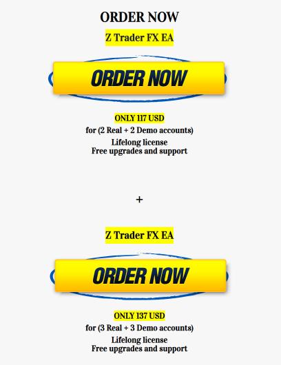 Z Trader FX EA License