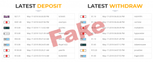 Fake transactions by FixeDay