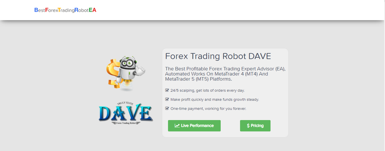 Forex Trading Robot Dave Review