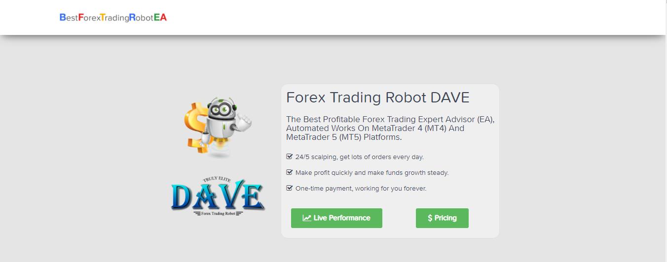 Robot Forex Trading revisión de Dave