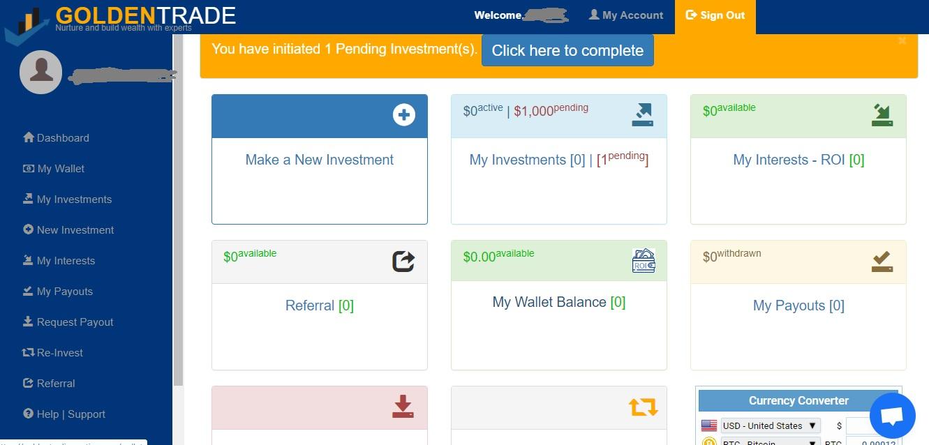 Golden Trade Trading Platform