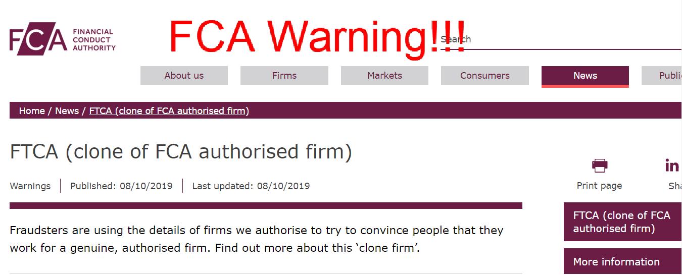 FCA Warning!