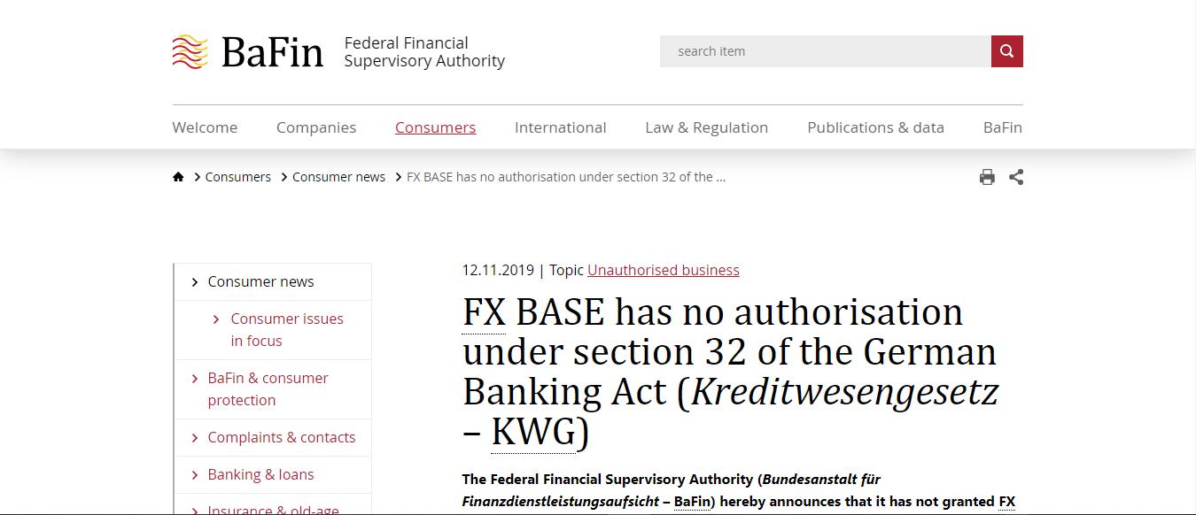 FX-Base Warning