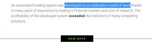 New Hope EA Strategy