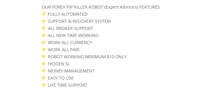 Forex Pip Killer Features