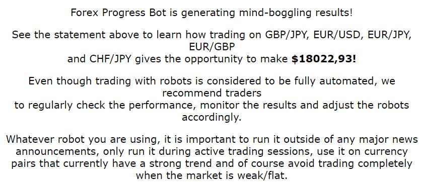 Forex Progress Bot EA Review