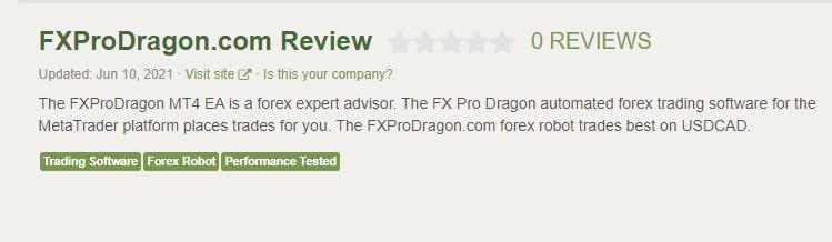 FXPro Dragon 交易评论